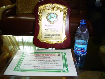 Endorsement shield for Yoma Farm Resort from Nigerian University students